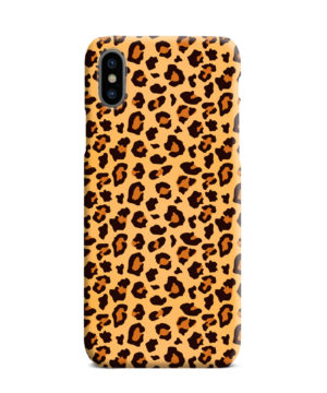 Leopard Print Texture for Premium iPhone XS Max Case Cover