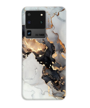 Luxury Black and Gold Ink Art for Cool Samsung Galaxy S20 Ultra Case Cover