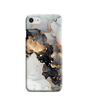 Luxury Black and Gold Ink Art for Custom iPhone SE (2020) Case