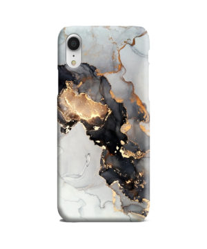 Luxury Black and Gold Ink Art for Customized iPhone XR Case