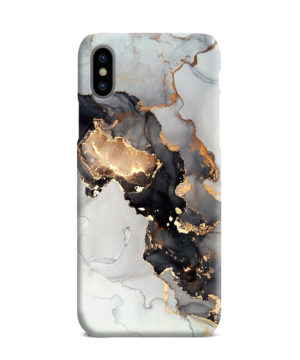 Luxury Black and Gold Ink Art for Customized iPhone XS Max Case