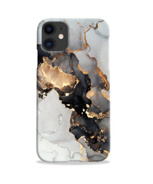 Luxury Black and Gold Ink Art for Cute iPhone 11 Case