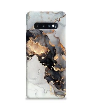 Luxury Black and Gold Ink Art for Cute Samsung Galaxy S10 Plus Case Cover
