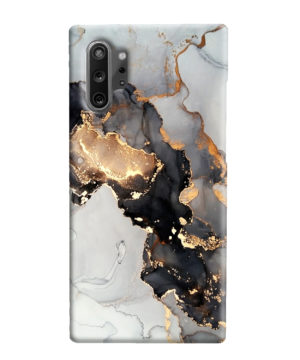 Luxury Black and Gold Ink Art for Newest Samsung Galaxy Note 10 Plus Case
