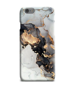 Luxury Black and Gold Ink Art for Personalised iPhone 6 Plus Case