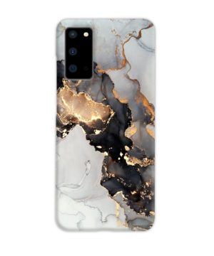 Luxury Black and Gold Ink Art for Personalised Samsung Galaxy S20 Case
