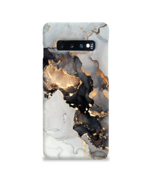 Luxury Black and Gold Ink Art for Stylish Samsung Galaxy S10 Case
