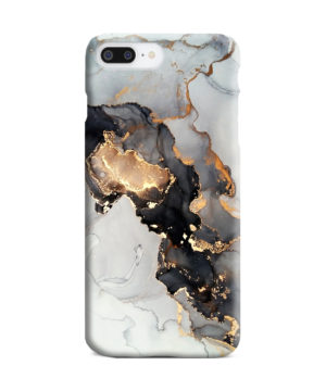 Luxury Black and Gold Ink Art for Trendy iPhone 8 Plus Case