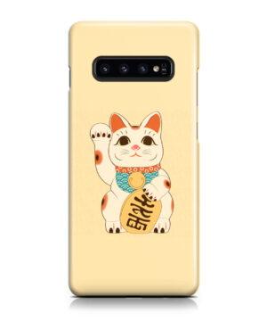 Maneki Neko Lucky Cat for Best Samsung Galaxy S10 Case Cover
