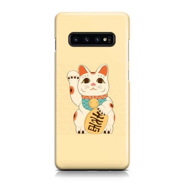Maneki Neko Lucky Cat for Personalised Samsung Galaxy S10 Plus Case