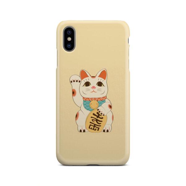 Maneki Neko Lucky Cat for Simple iPhone XS Max Case