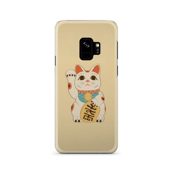 Maneki Neko Lucky Cat for Simple Samsung Galaxy S9 Case