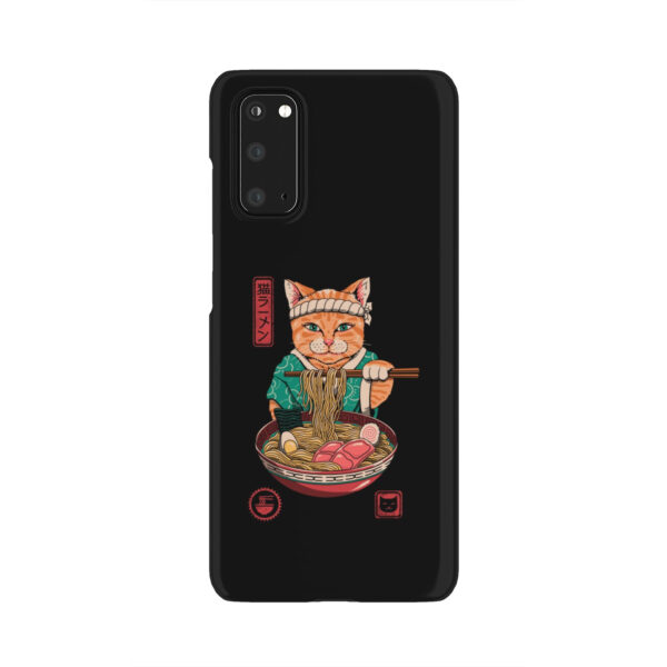 Maneki Neko Ramen Cat Anime for Customized Samsung Galaxy S20 Case Cover