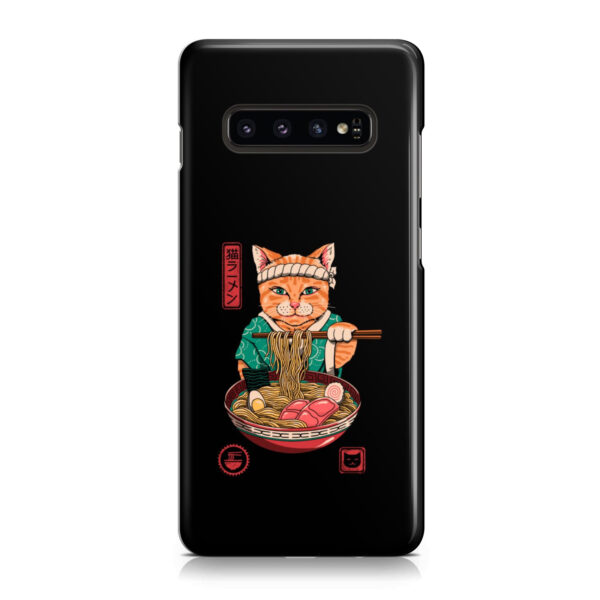Maneki Neko Ramen Cat Anime for Simple Samsung Galaxy S10 Case Cover