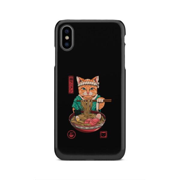 Maneki Neko Ramen Cat Anime for Trendy iPhone XS Max Case