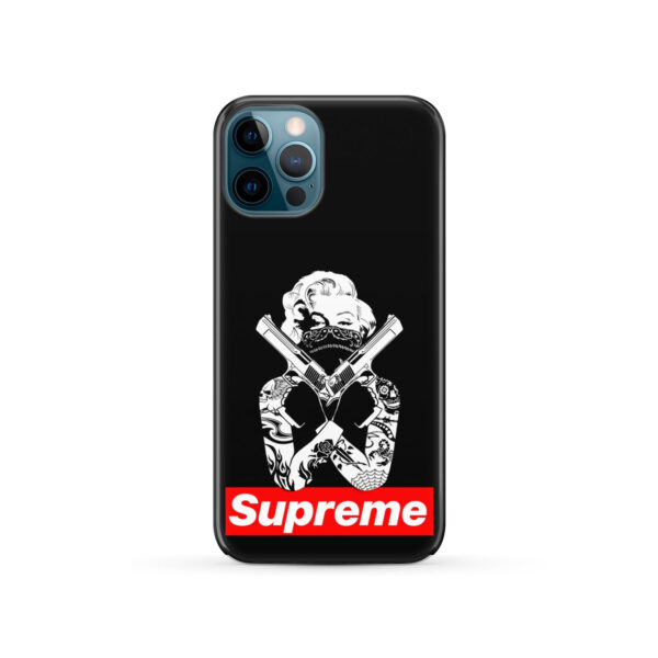 Marilyn Monroe Supreme Gangster for Custom iPhone 12 Pro Case