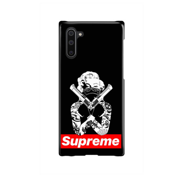 Marilyn Monroe Supreme Gangster for Stylish Samsung Galaxy Note 10 Case Cover