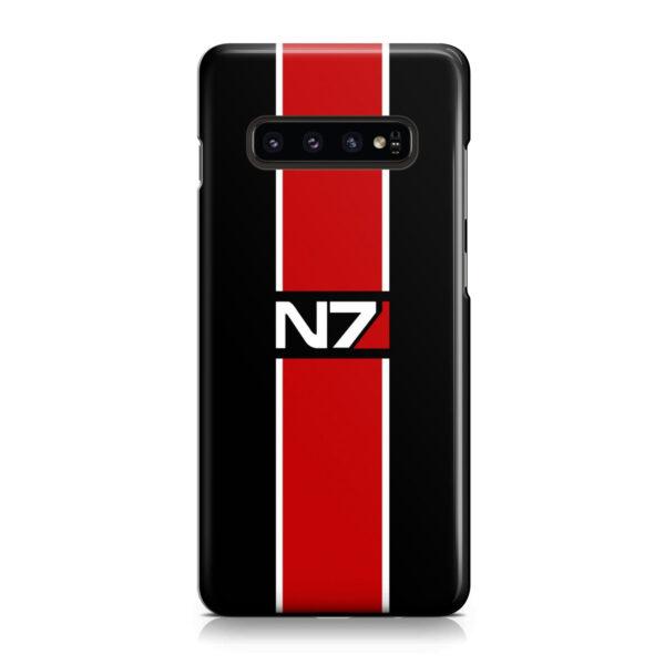 Mass Effect N7 Logo for Unique Samsung Galaxy S10 Case