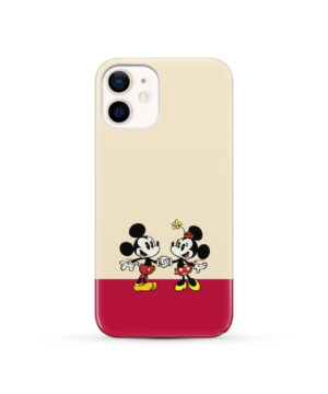 Mickey and Minnie Mouse Love for Cool iPhone 12 Case Cover