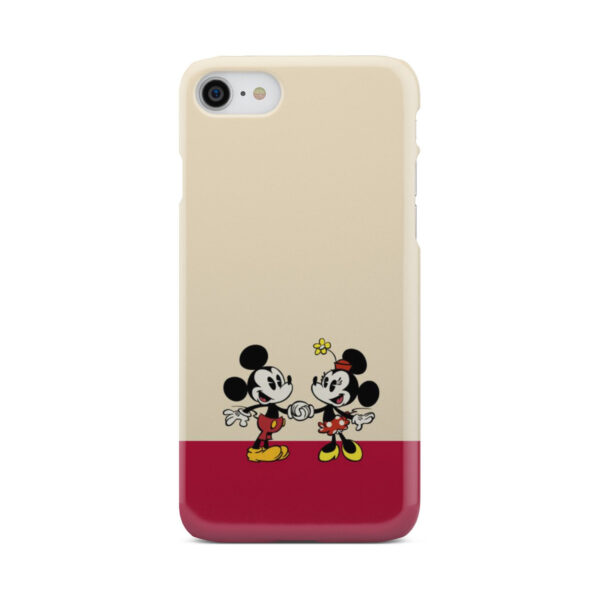Mickey and Minnie Mouse Love for Cute iPhone 7 Case Cover