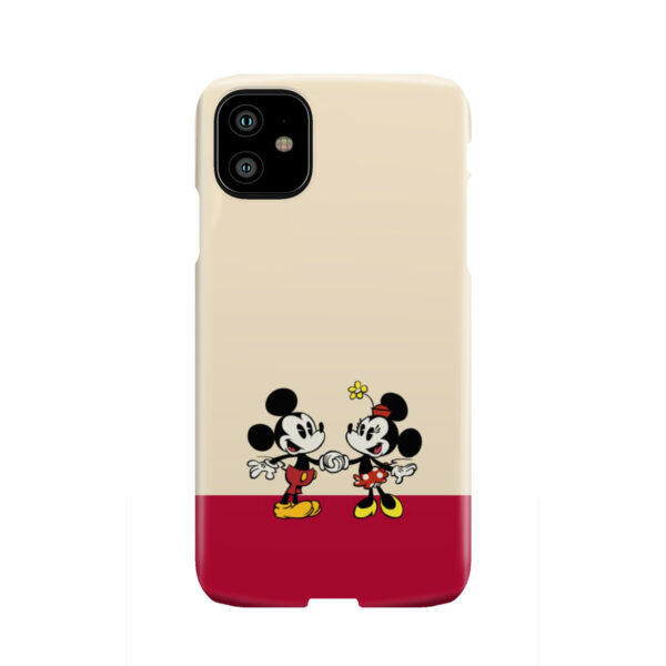 Mickey and Minnie Mouse Love for Personalised iPhone 11 Case Cover
