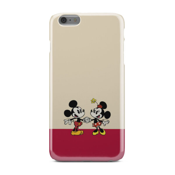 Mickey and Minnie Mouse Love for Personalised iPhone 6 Plus Case Cover