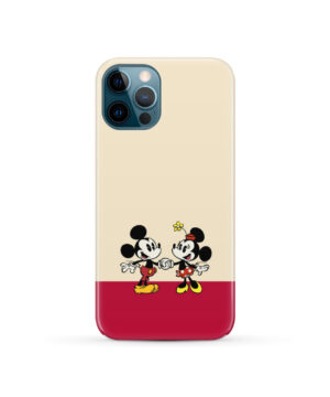Mickey and Minnie Mouse Love for Simple iPhone 12 Pro Case Cover