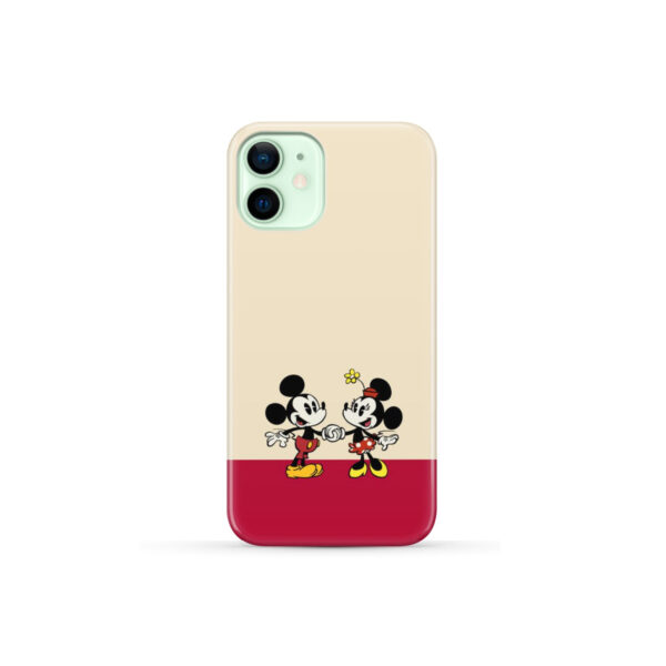 Mickey and Minnie Mouse Love for Stylish iPhone 12 Mini Case