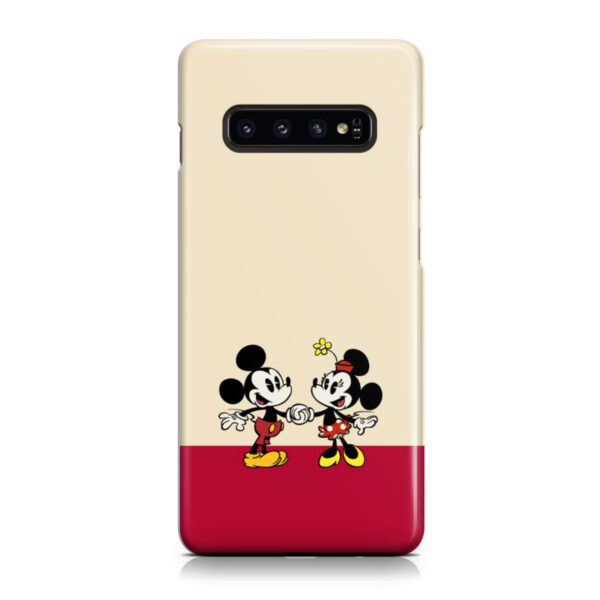 Mickey and Minnie Mouse Love for Stylish Samsung Galaxy S10 Plus Case