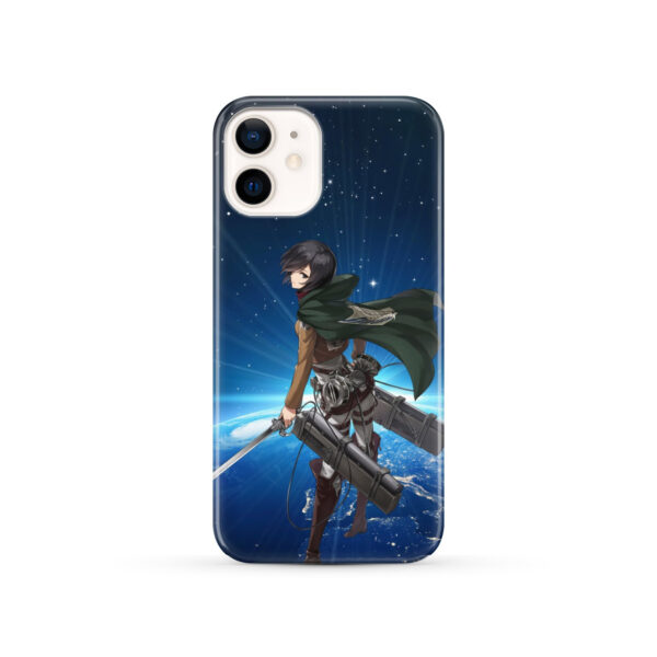 Mikasa Ackerman Attack on Titan for Custom iPhone 12 Case Cover