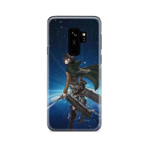 Mikasa Ackerman Attack on Titan for Custom Samsung Galaxy S9 Plus Case