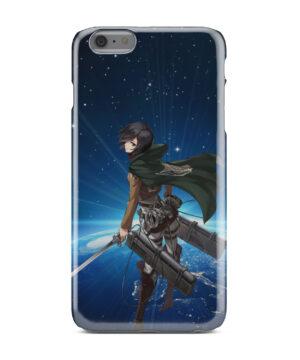 Mikasa Ackerman Attack on Titan for Customized iPhone 6 Plus Case