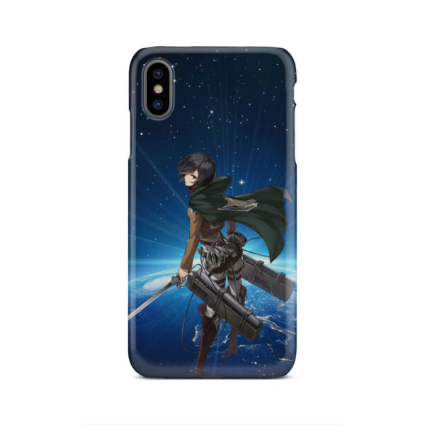 Mikasa Ackerman Attack on Titan for Nice iPhone XS Max Case Cover