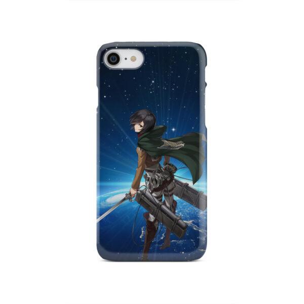 Mikasa Ackerman Attack on Titan for Stylish iPhone SE 2020 Case Cover