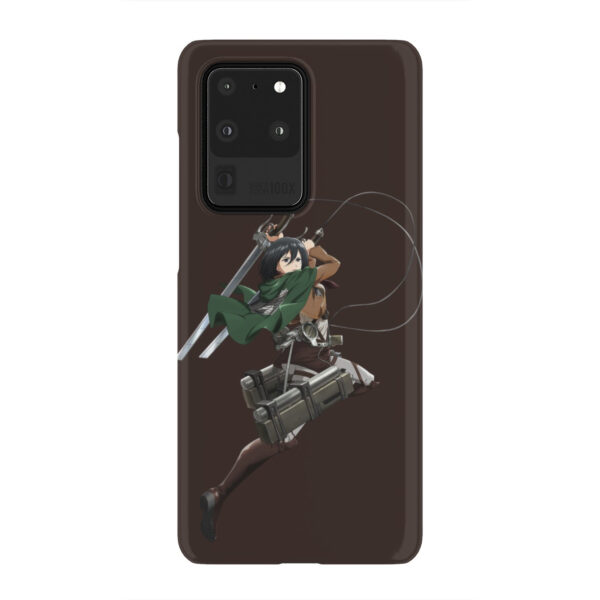 Mikasa Attack on Titan Character for Best Samsung Galaxy S20 Ultra Case