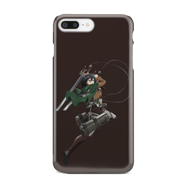 Mikasa Attack on Titan Character for Cool iPhone 8 Plus Case