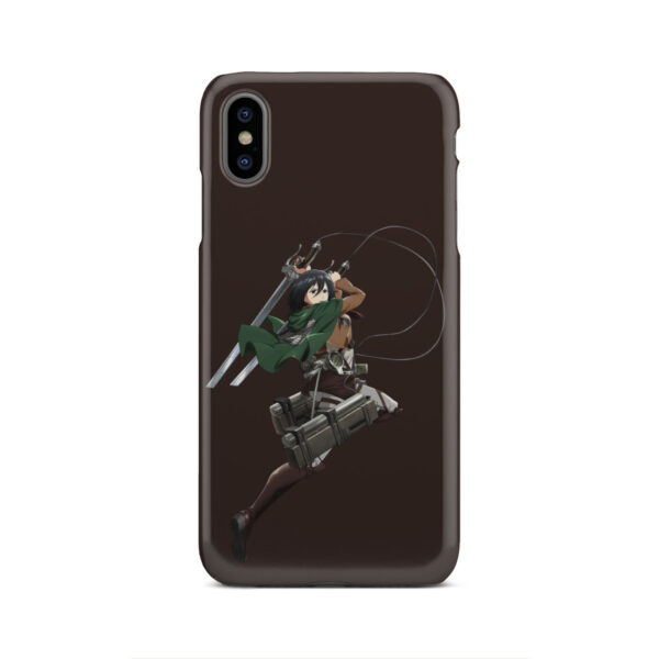 Mikasa Attack on Titan Character for Cool iPhone XS Max Case Cover