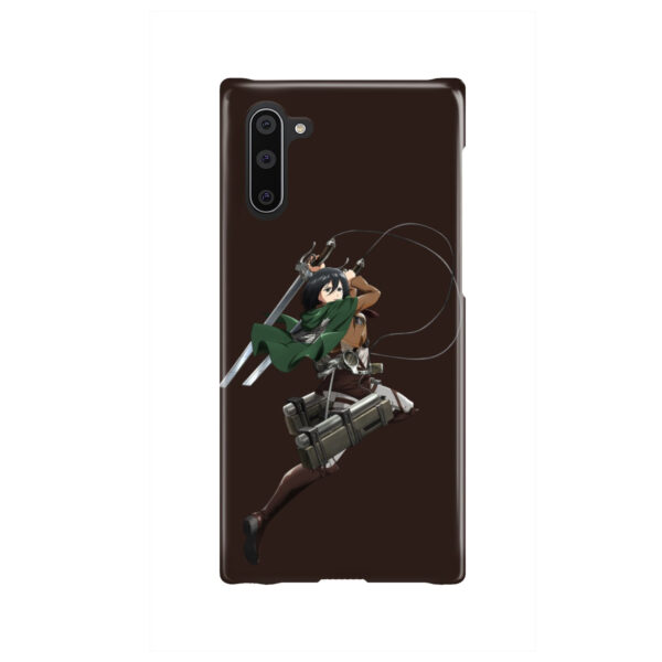 Mikasa Attack on Titan Character for Customized Samsung Galaxy Note 10 Case Cover