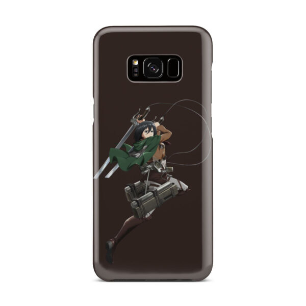 Mikasa Attack on Titan Character for Customized Samsung Galaxy S8 Plus Case Cover