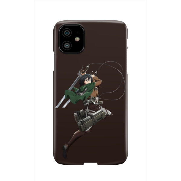 Mikasa Attack on Titan Character for Cute iPhone 11 Case Cover