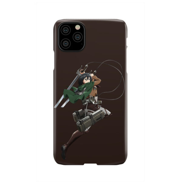Mikasa Attack on Titan Character for Newest iPhone 11 Pro Max Case
