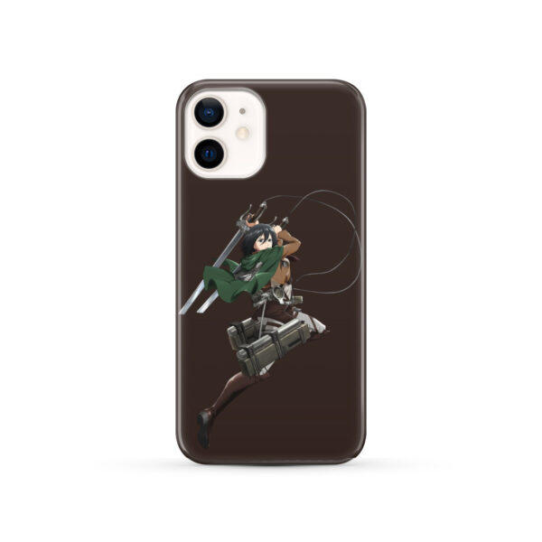 Mikasa Attack on Titan Character for Newest iPhone 12 Case Cover