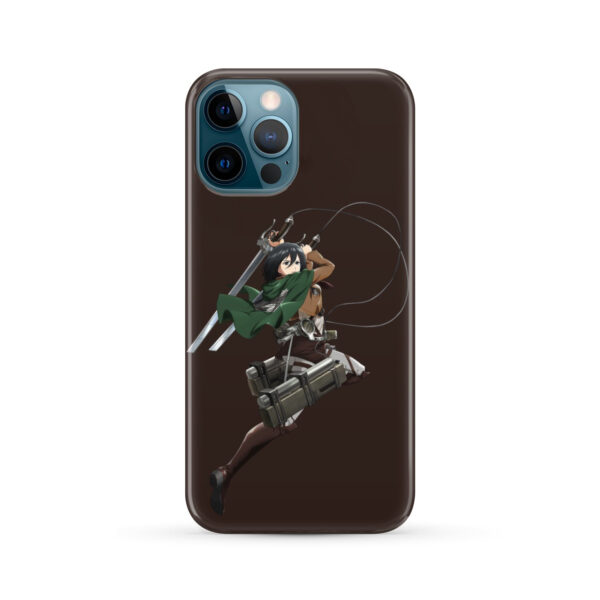 Mikasa Attack on Titan Character for Newest iPhone 12 Pro Max Case