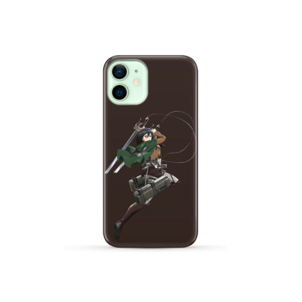 Mikasa Attack on Titan Character for Personalised iPhone 12 Mini Case Cover