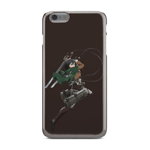 Mikasa Attack on Titan Character for Personalised iPhone 6 Plus Case
