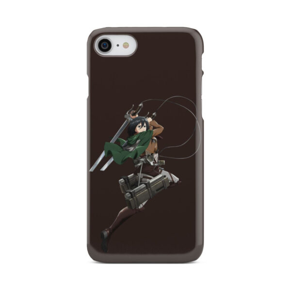 Mikasa Attack on Titan Character for Simple iPhone 7 Case