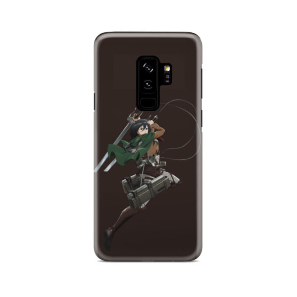 Mikasa Attack on Titan Character for Simple Samsung Galaxy S9 Plus Case