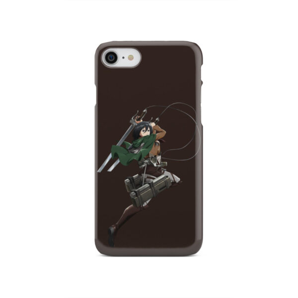 Mikasa Attack on Titan Character for Stylish iPhone SE 2020 Case Cover