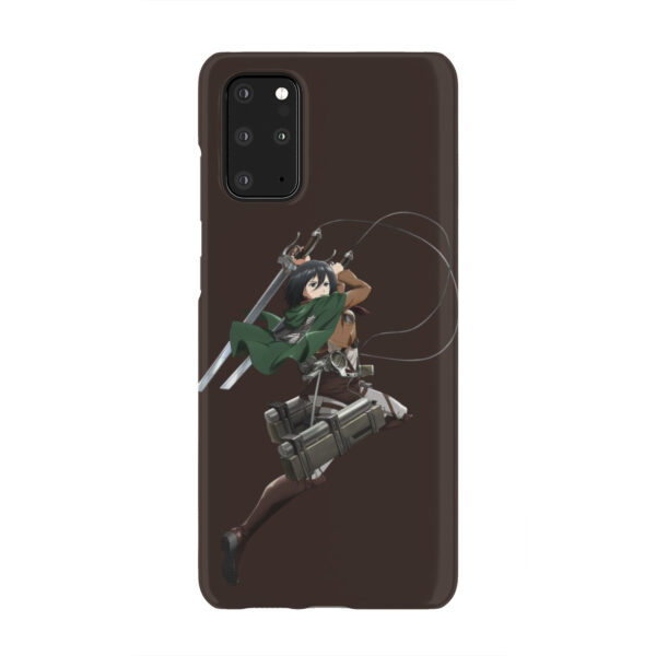 Mikasa Attack on Titan Character for Trendy Samsung Galaxy S20 Plus Case Cover