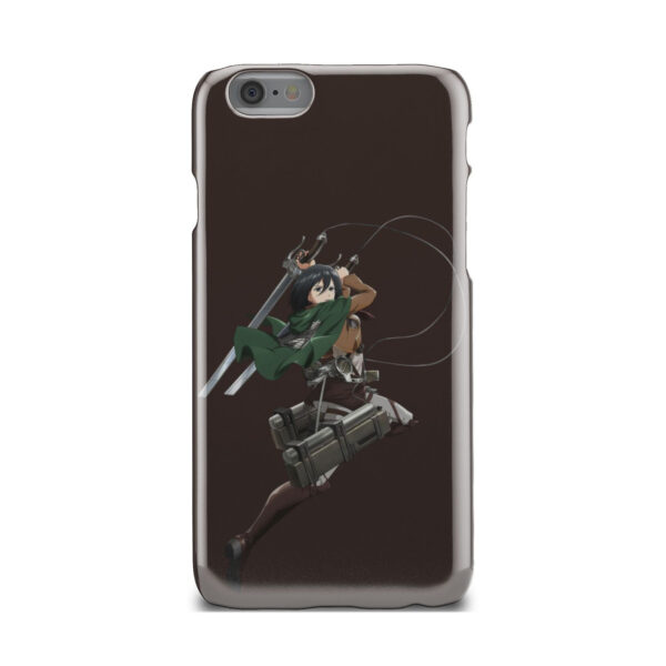 Mikasa Attack on Titan Character for Unique iPhone 6 Case Cover